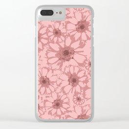 Mauve Floral Clear iPhone Case