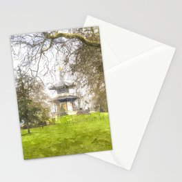 The Pagoda Battersea Park London Art Stationery Cards