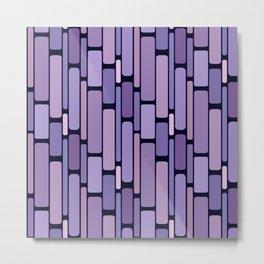 Retro Blocks Lavender Metal Print