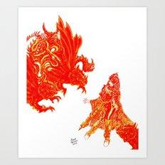 Fright Night [Digital Fantasy Illustration] Art Print