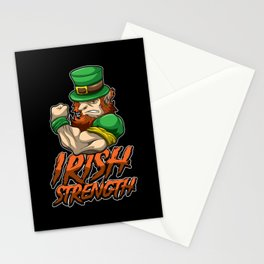 Fitness Leprechaun - Irish Strenght - Goblin Gym Stationery Cards