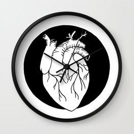 Heart in black circle Wall Clock