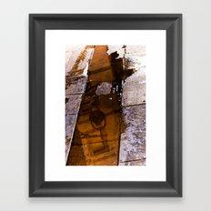 BCN pavement Framed Art Print