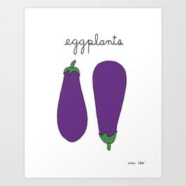 Eggplants Art Print