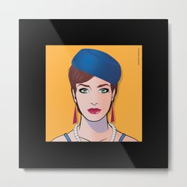 Pop Art Beautiful Woman Pop Art Girl Chrissie Metal Print