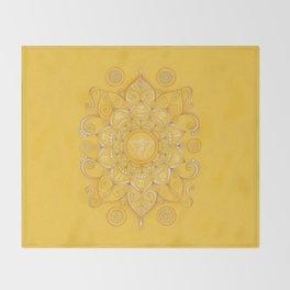 Mandala Chakra Manipura Throw Blanket