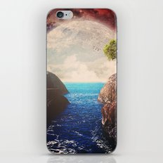 Where the moon meets the sea iPhone Skin