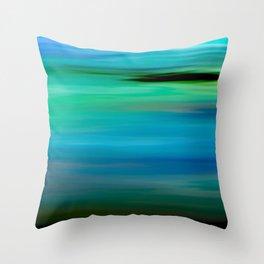 Seascape - blurography Throw Pillow