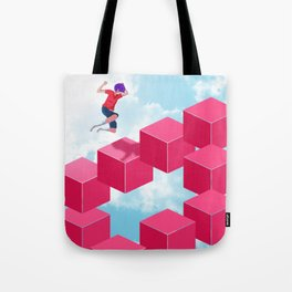 Cube Hopper Tote Bag