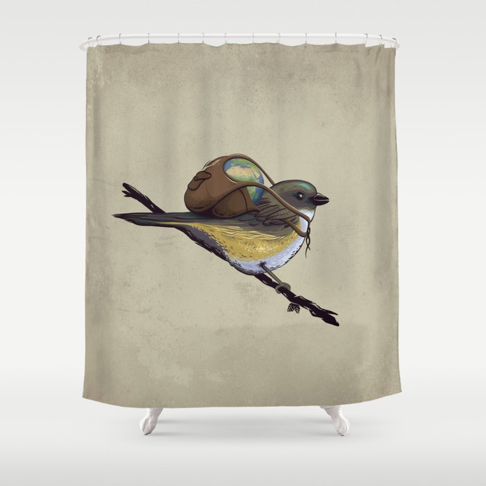 Save The Planet Shower Curtain By Entar