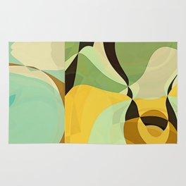 RETRO Mid Century Modern Pattern Abstract Geometric Art by Michel Keck Rug