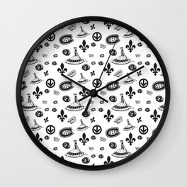 montreal pattern Wall Clock