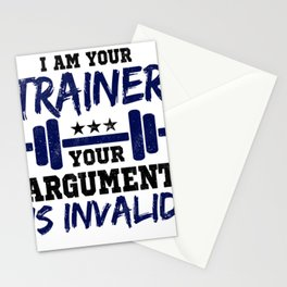 I Am Your Trainer Your Argument Is Invalid Personal Trainer Stationery Cards