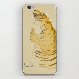 Sketch of Tiger from the Zoological Garden Hiroshi Yoshida Vintage Japanese Woodblock Print iPhone Skin