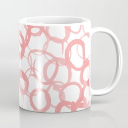 Watercolor Circle Rose Coffee Mug