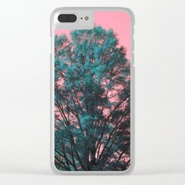 5D Visions : Teal Tree Pink Sky Clear iPhone Case
