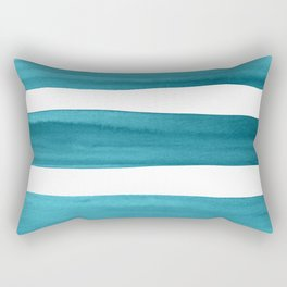 Watercolor Brushstrokes - Teal Rectangular Pillow