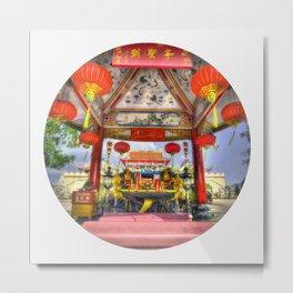 Temple Palace Shrine (Circle) Metal Print