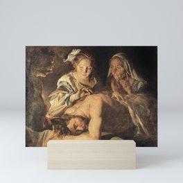 Matthias Stom - Samson and Delilah Mini Art Print
