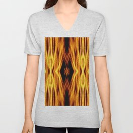 Flame Pattern Fire Astract Unisex V-Neck