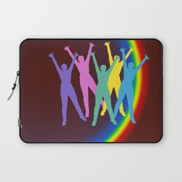 joyful man and rainbow . Art Laptop Sleeve