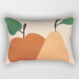 An Apple and a Pear Rectangular Pillow