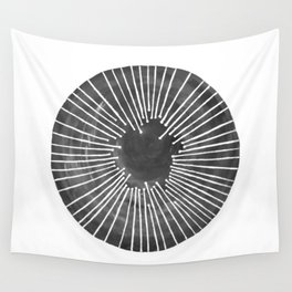 Black and White Circle Wall Tapestry