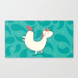 U is for unicorn Canvas Print