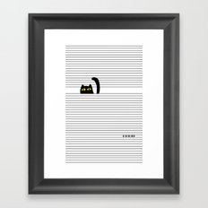 I Creep On You Framed Art Print