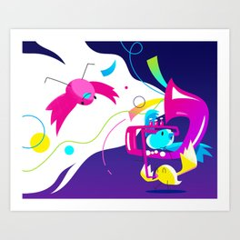 Birds a chripin' Art Print