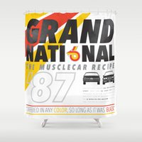 the national Shower Curtains featuring Grand National by CynthiaLeduc