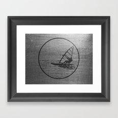 Windsurfing Framed Art Print