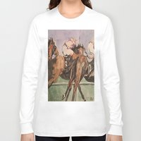 racing Long Sleeve T-shirts featuring Racing Trio by Connie Campbell