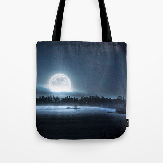 When the moon wakes up Tote Bag
