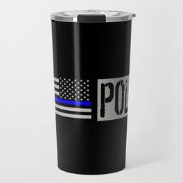 Police: Police Flag (Thin Blue Line) Travel Mug