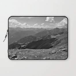 panorama on adventure park hög alps serfaus fiss ladis tyrol austria europe black white Laptop Sleeve