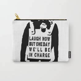 Banksy Monkey Qoute Carry-All Pouch