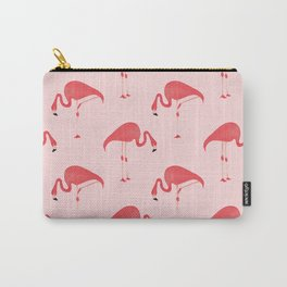 Flamingo Watercolor Pattern Carry-All Pouch