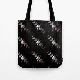 Moon Phases with Vintage Witch Tote Bag