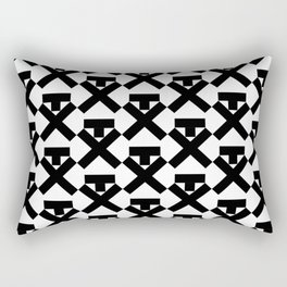 Trump. Not my pres. Black Pattern. Rectangular Pillow