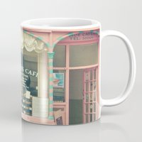 cafe Mugs featuring Sweet Cafe by Cassia Beck