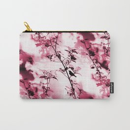 Silhouette of songbird on a branch #decor #society6 #buyart Carry-All Pouch