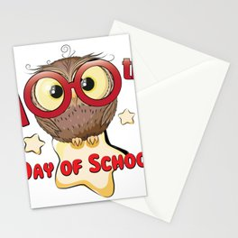 Owl 100th Day Of School 100 Days Smarter Gifts Stationery Cards