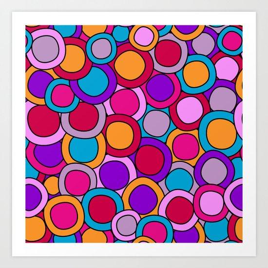 My colourful circles.  Art Print