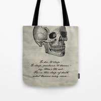 hamlet Tote Bags featuring Hamlet - Shakespeare by pithyPENNY