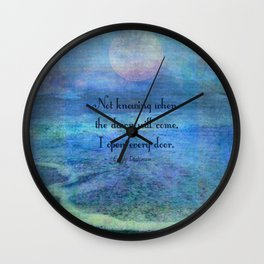 Emily Dickinson hope quote Wall Clock
