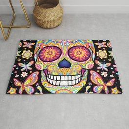 Sugar Skull Art (Mariposa) Rug