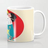 geisha Mugs featuring Geisha by EinarOux
