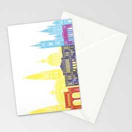 Guadalajara MX skyline pop Stationery Cards