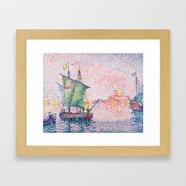 Paul Signac Venice, The Pink Cloud Framed Art Print